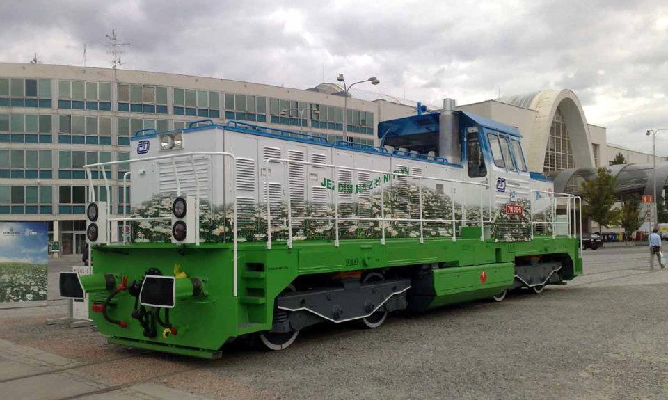 Lokomotiva na plyn na Strojírenském veletrhu v Brně v roce 2011