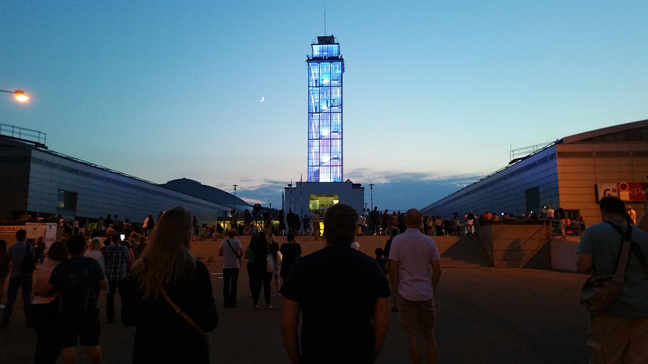 Světelná show na brněnském výstavišti Re:publika 2018