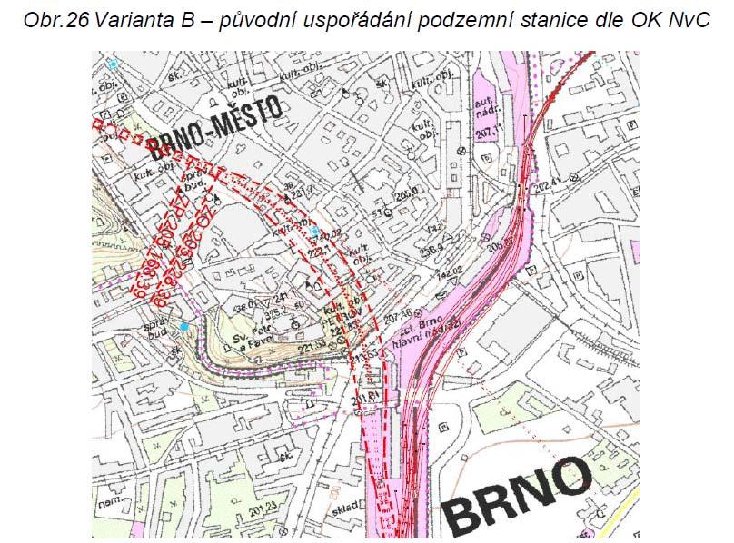 Tunely pod centrem Brna. Dle návrhu OK Nádraží v Centru