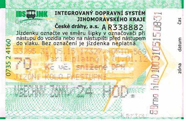 Celodenní jízdenka IDS-JMK za 70 Kč na kolo pro Jižní Moravu