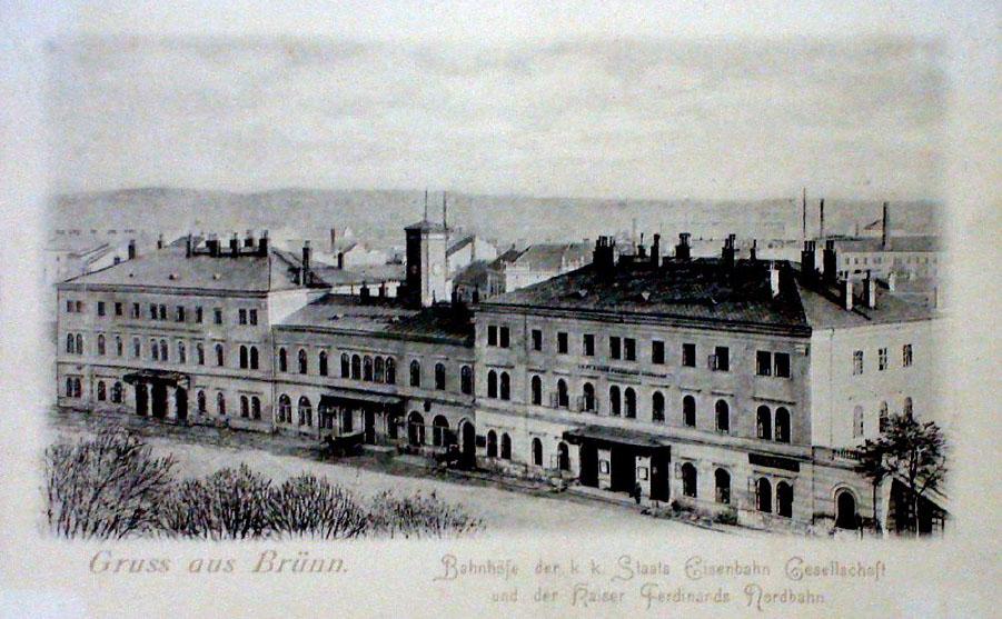 Brněnské nádraží 1848