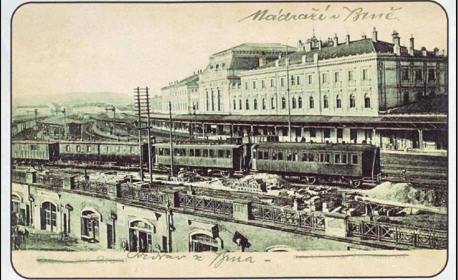 Brněnské nádraží kolem roku 1905