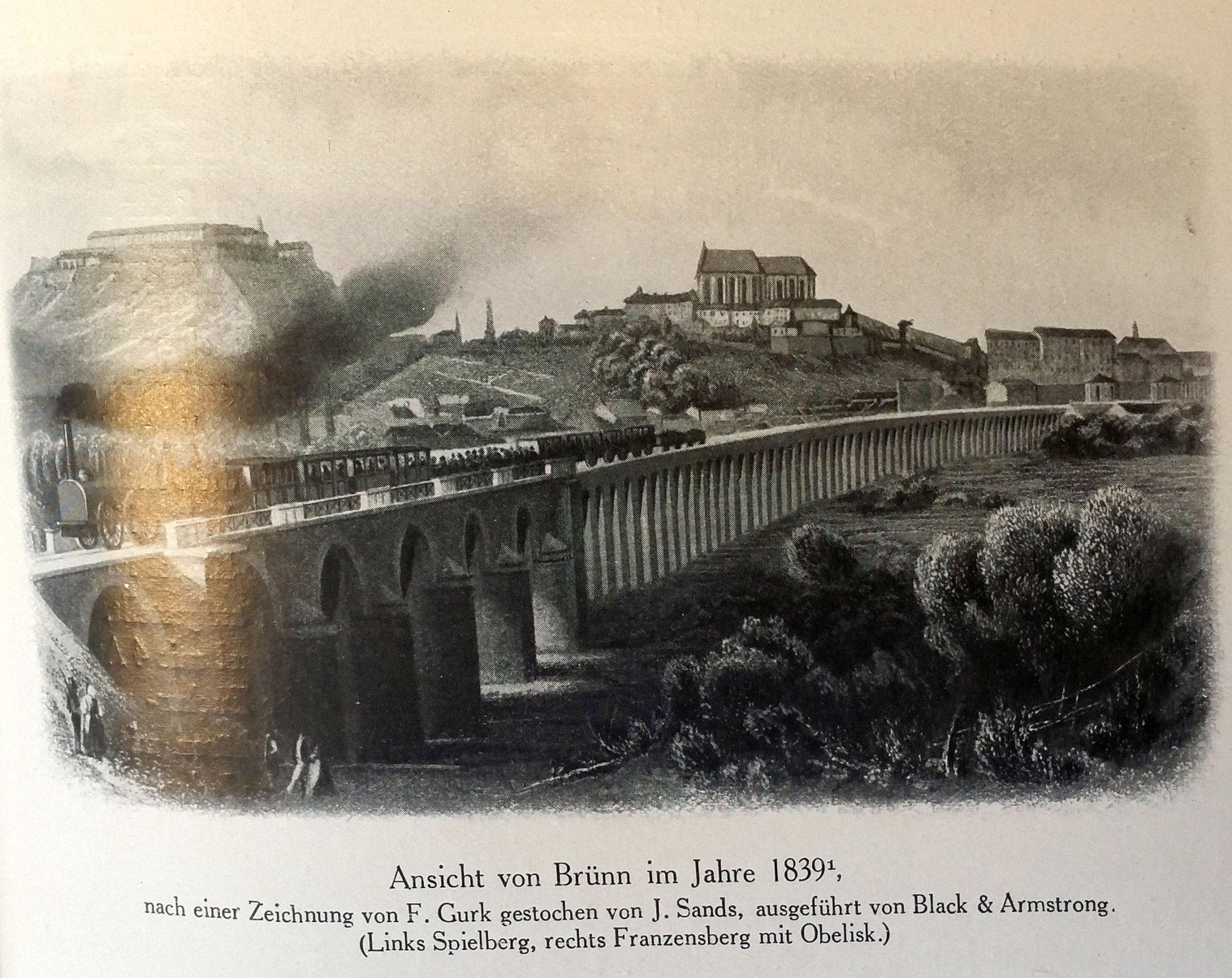 Vlaky do Brna roku 1839