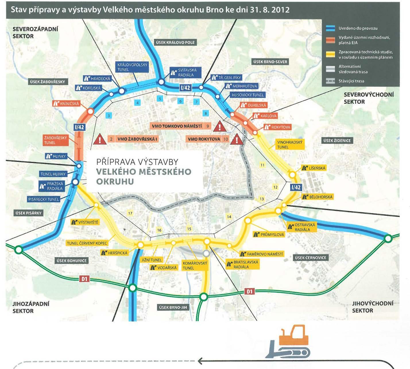 Plán velkého městského okruhu Brno