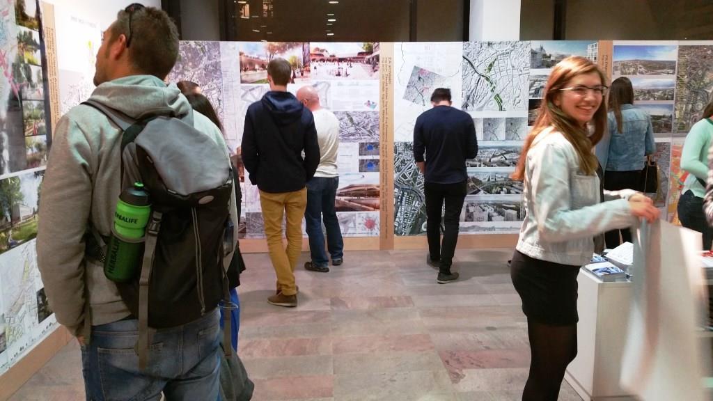 Vizualizace centra Brna s variantou nádraží U Řeky