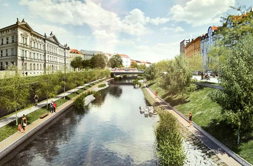 Ivan Ruller: vítězný návrh okolí řeky Svratky v Brně
