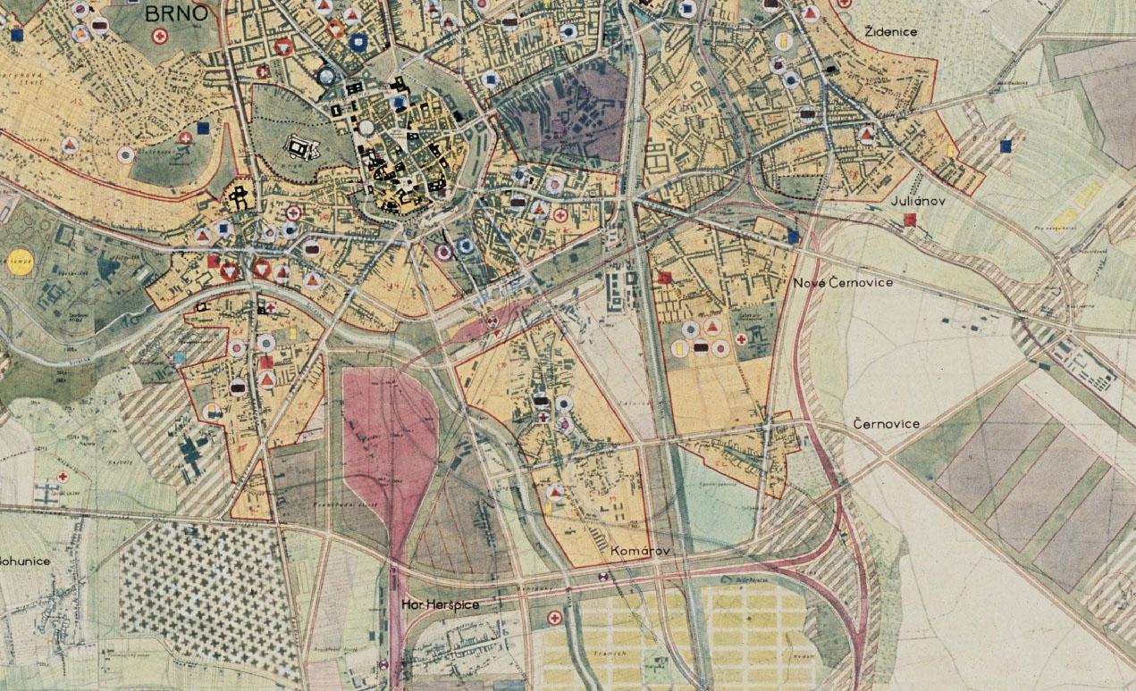 Územní plán města Brna, rok 1952