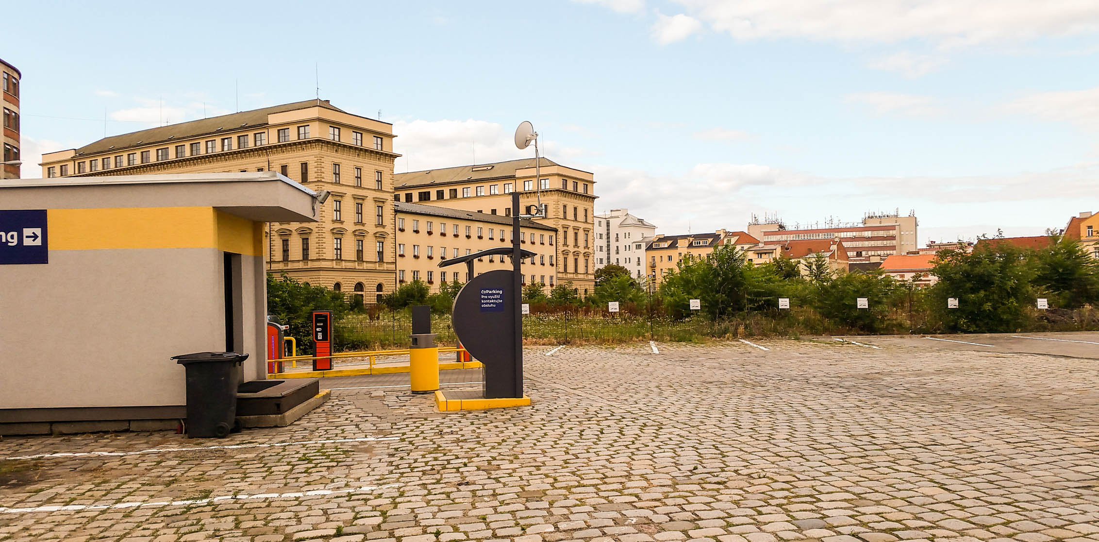 Plocha CD Paláce v 6.2018, zatím parkoviště