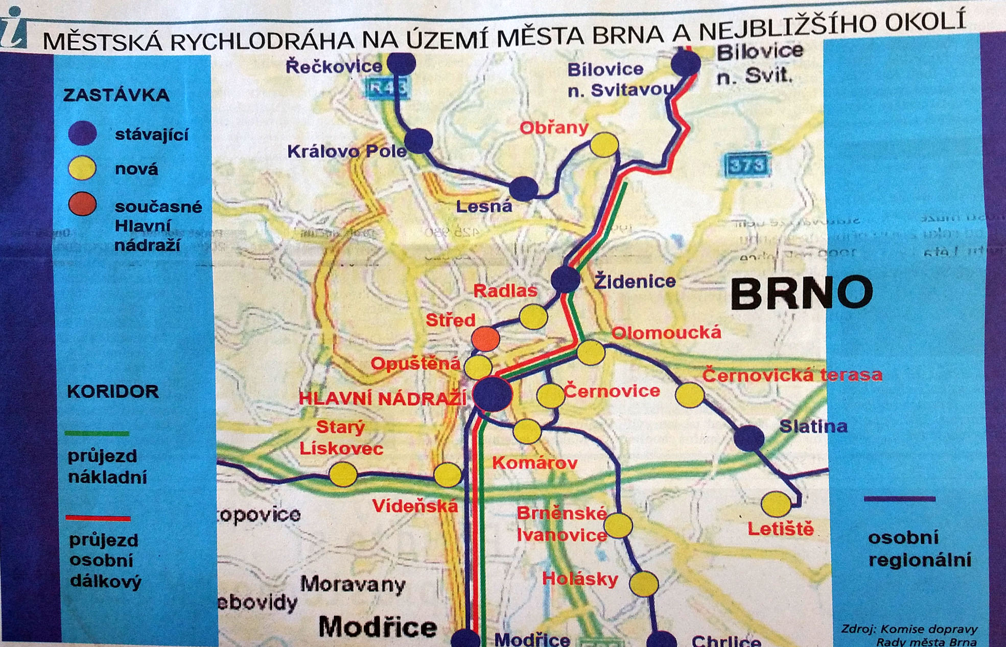 Brněnská Rovnost ze 13.února 2008 - Rychlodráha přes město