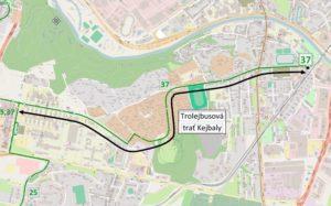 Trolejbusová trať Kejbaly