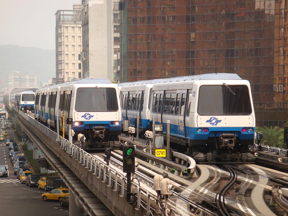 Systém lehkého metra MATRA na Taiwanu. Podobný systém byl nabízen na počátku 90.let i do Brna