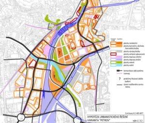 Plán rozvoje Brna ve variantě nádraží Petrov