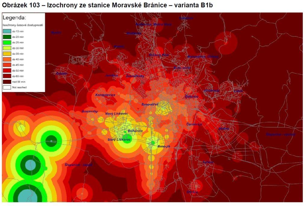 Izochrony Moravské Bránice