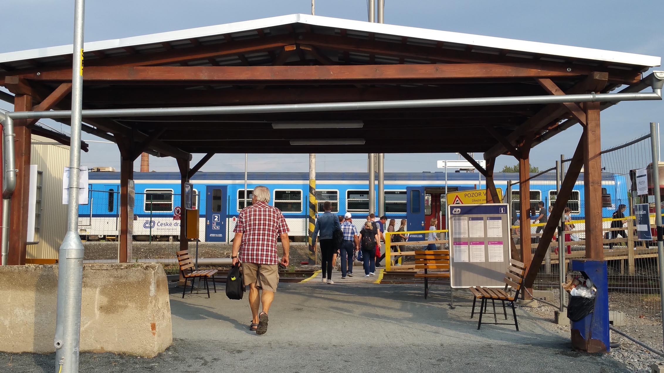 1.září 2018 Provizorní Brno Dolní nádraží znovu ožívá