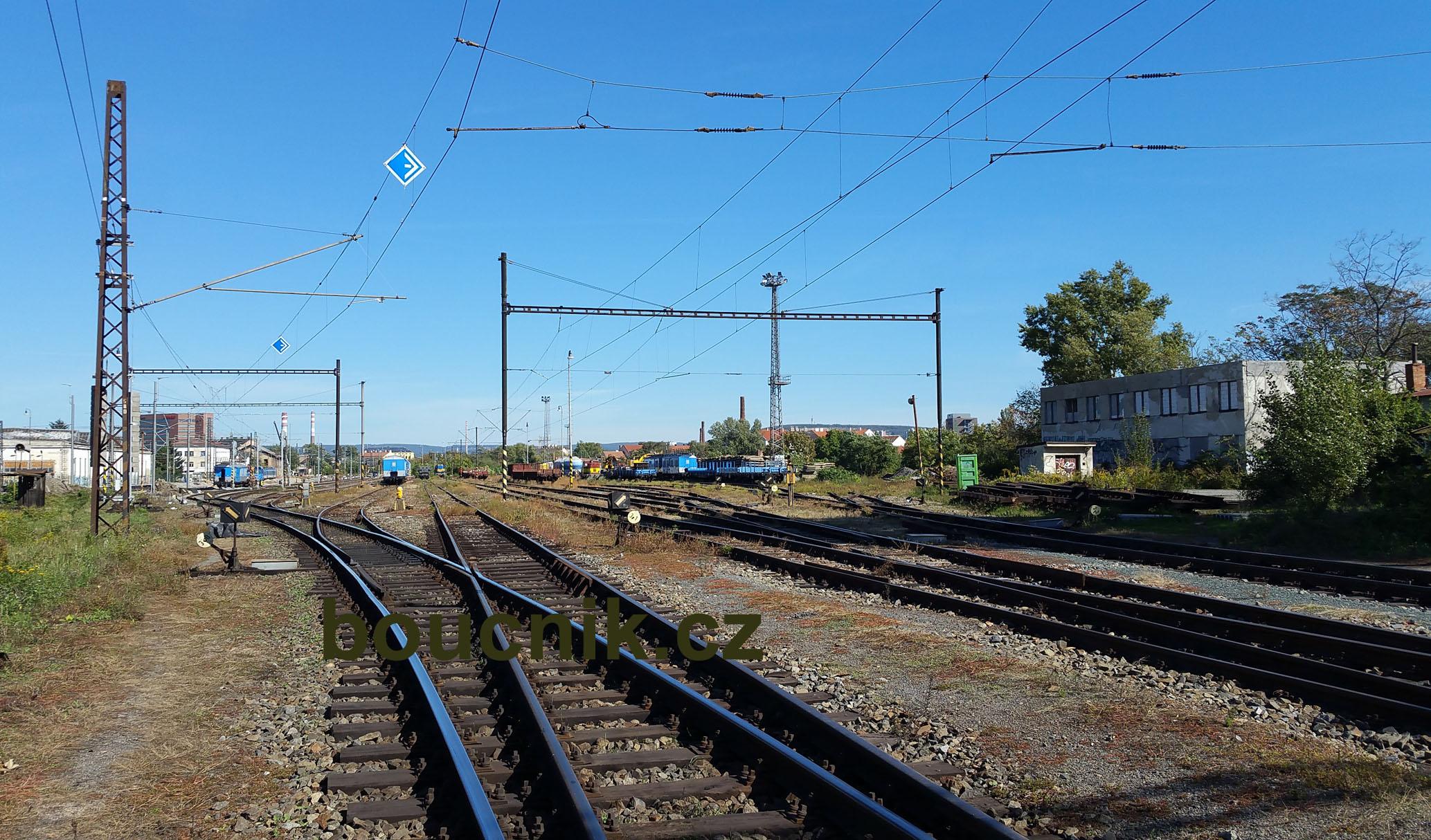 Pohled na Dolní nádraží od jihu