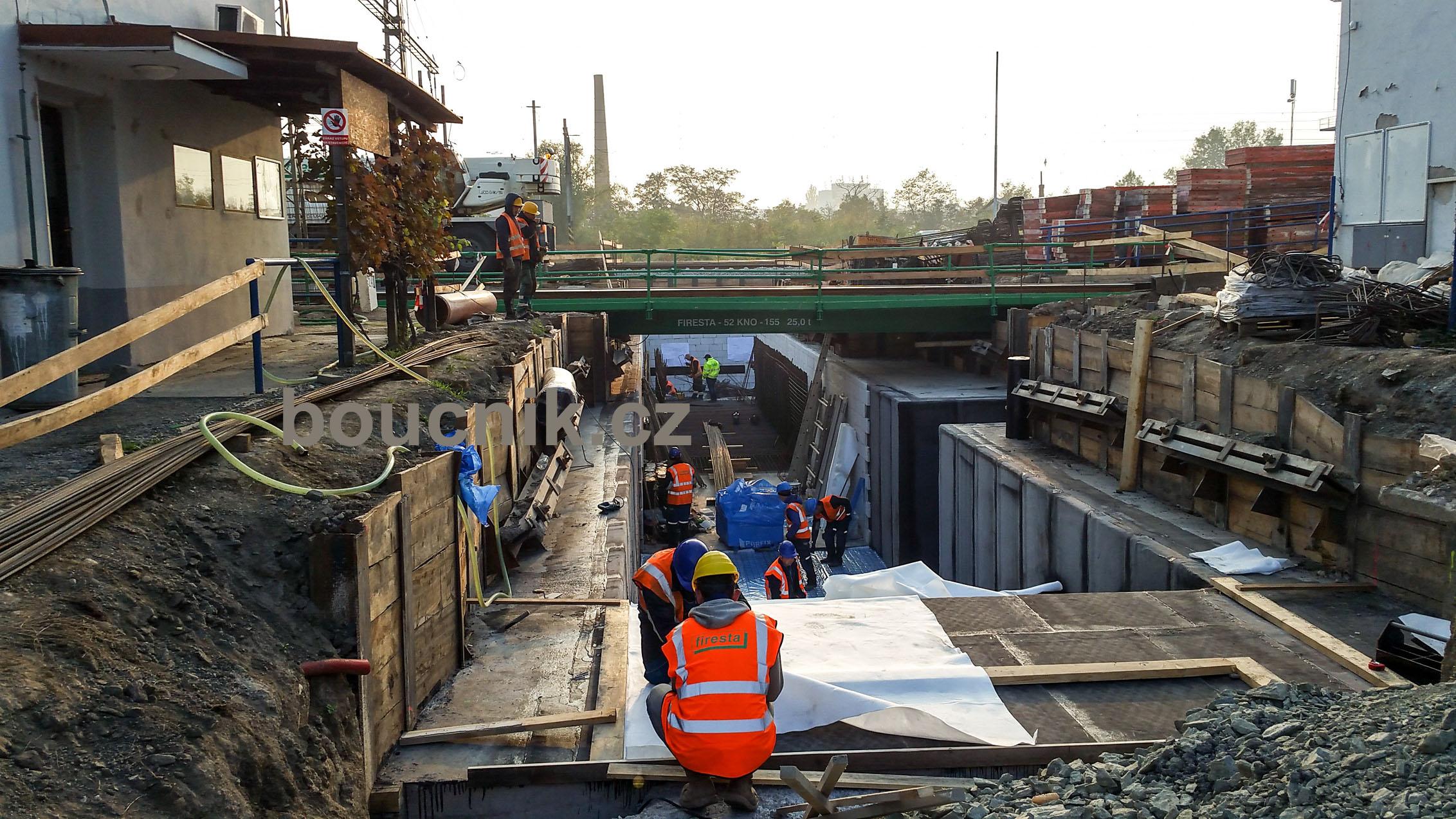 Výstavba podchodu na Dolním nádraží, sobota 20.října 2018