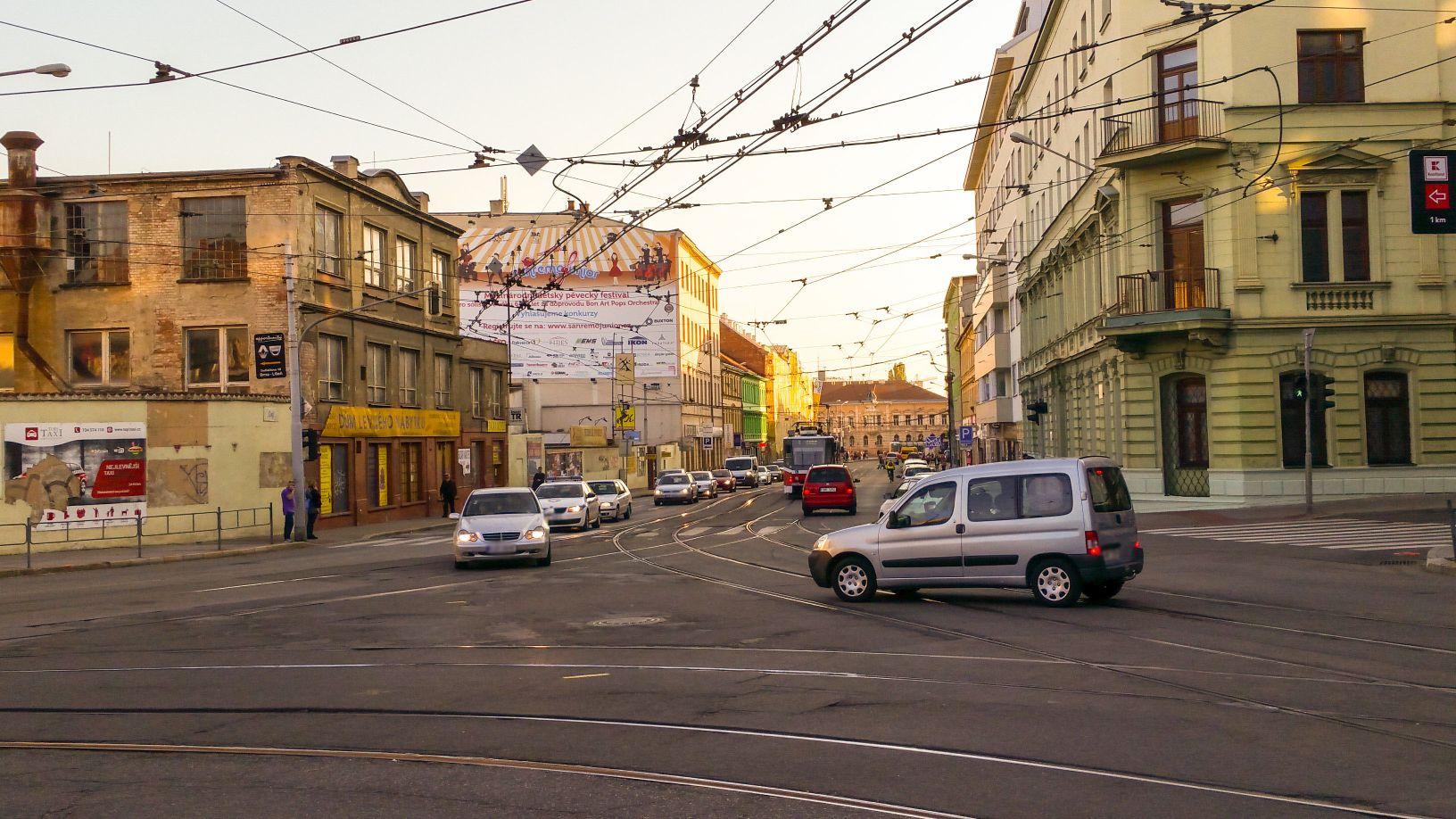 Křižovatka Cejl - Vranovská - Jana Svobody