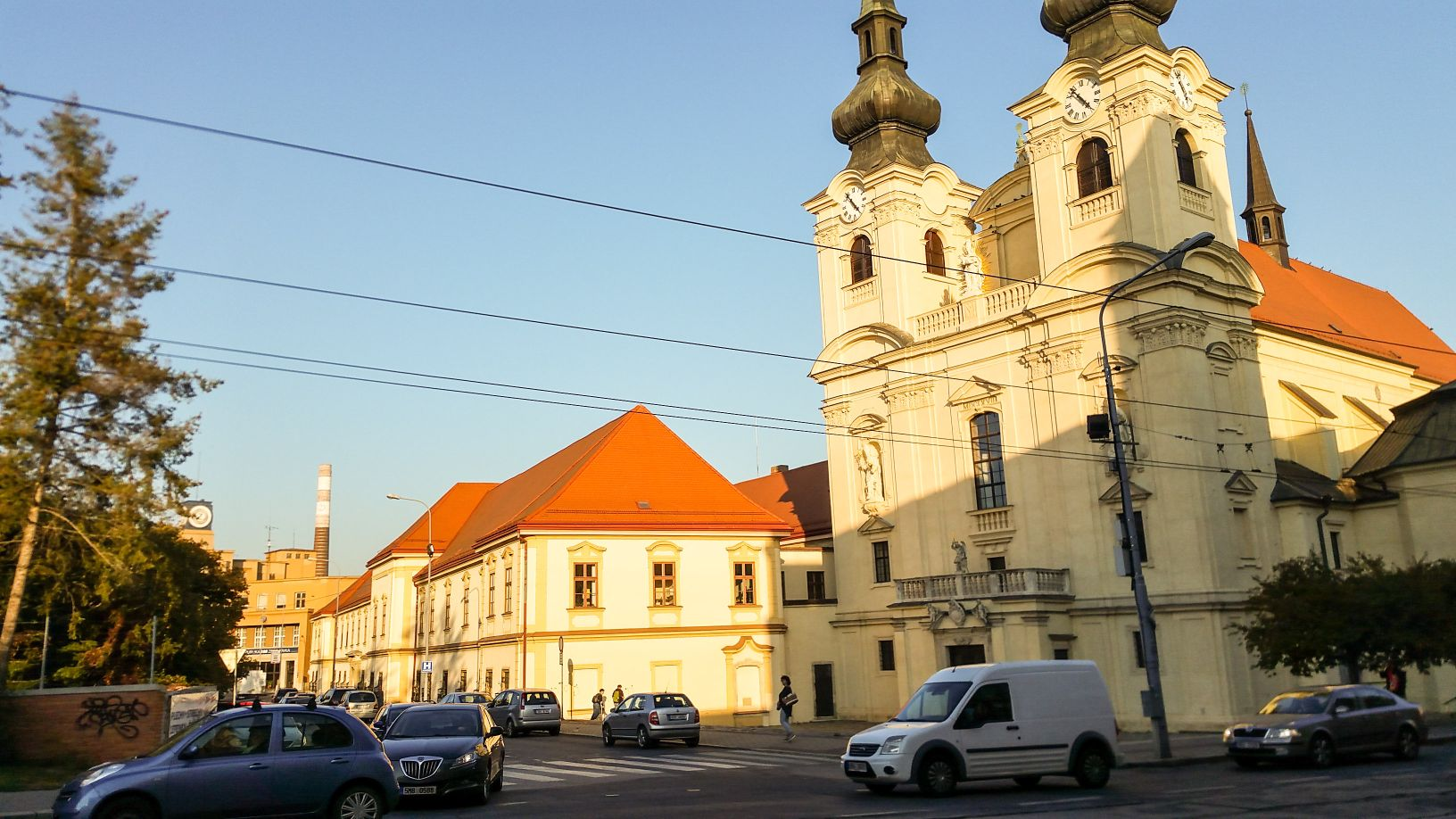 Zábrdovická klášter a kostel u brodu přes Svitavu