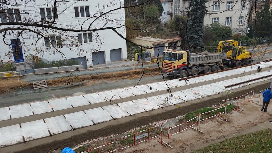 Rekonstrukce ulice Údolní na podzim 2018