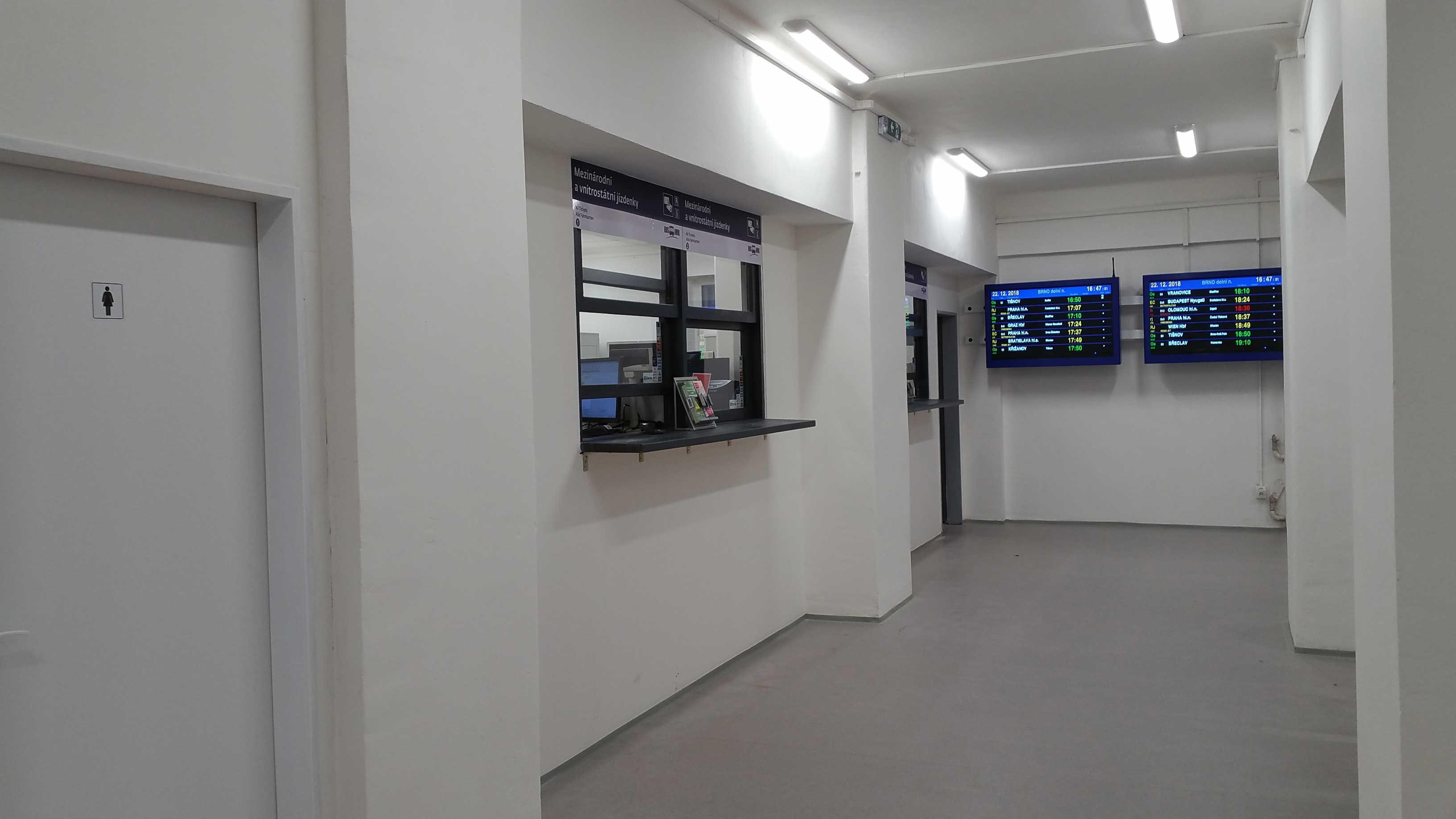 Nová čekárna na Dolním nádraží