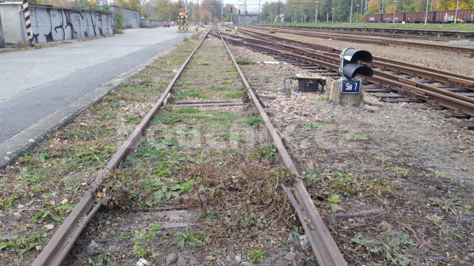 Přechodový bod šalina - vlak