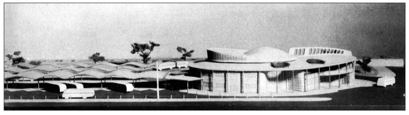 Bohuslav Fuchs, návrh autobusového nádraží u Grandu