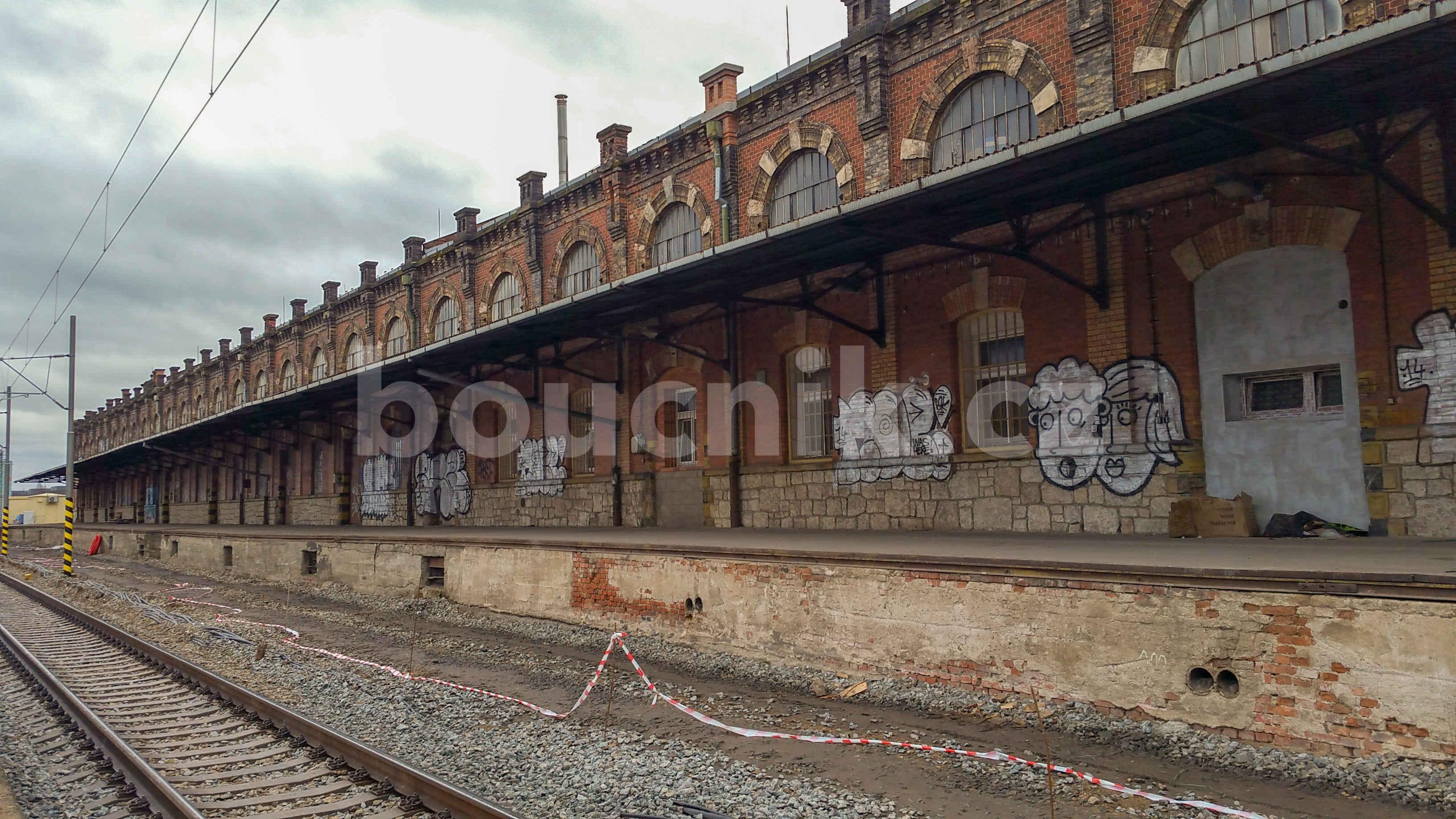 Malá Amerika v Brně u horního (ještě dnes hlavního) nádraží v Brně, 12.2018