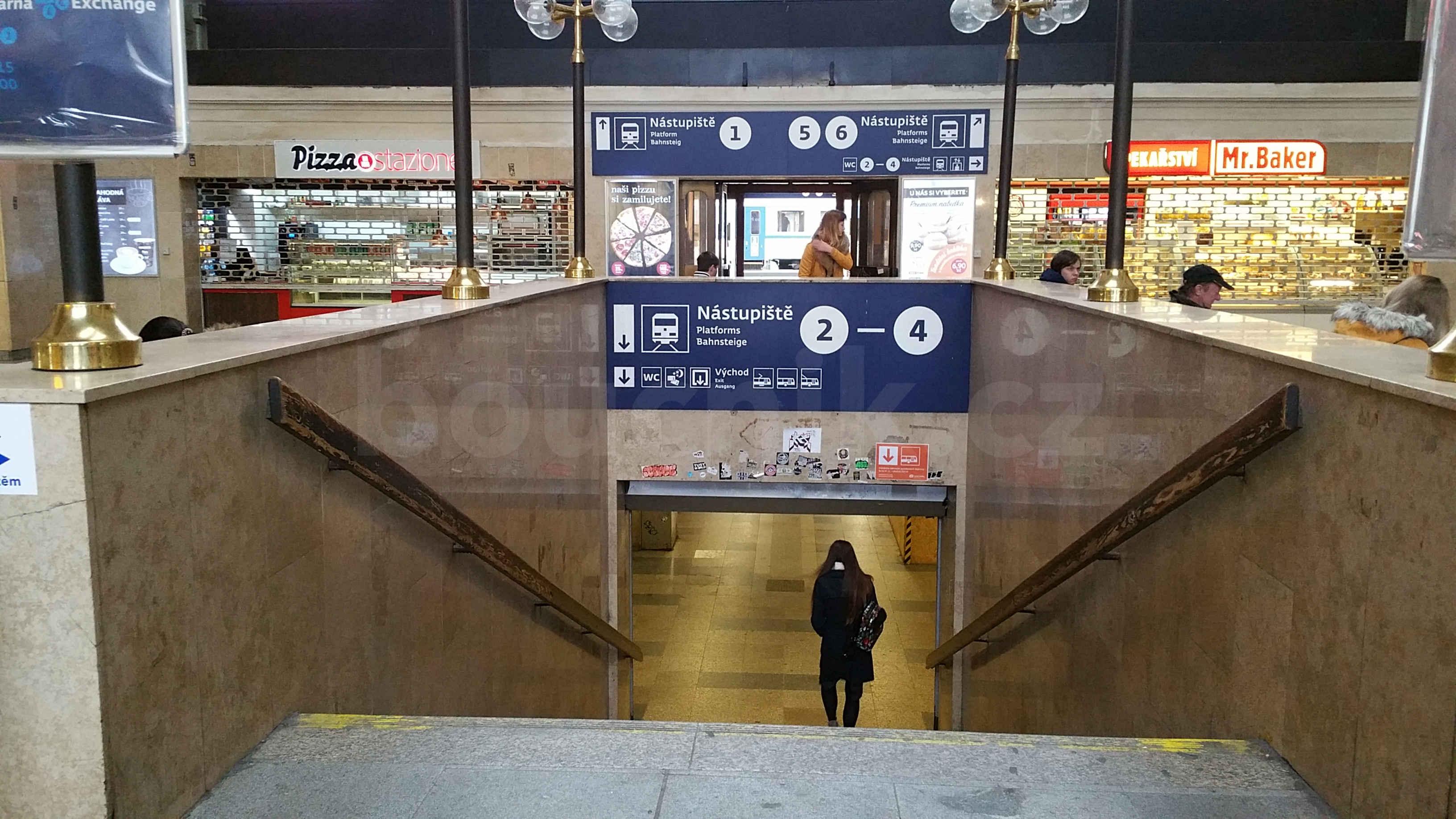Zima na brněnském hlavním nádraží