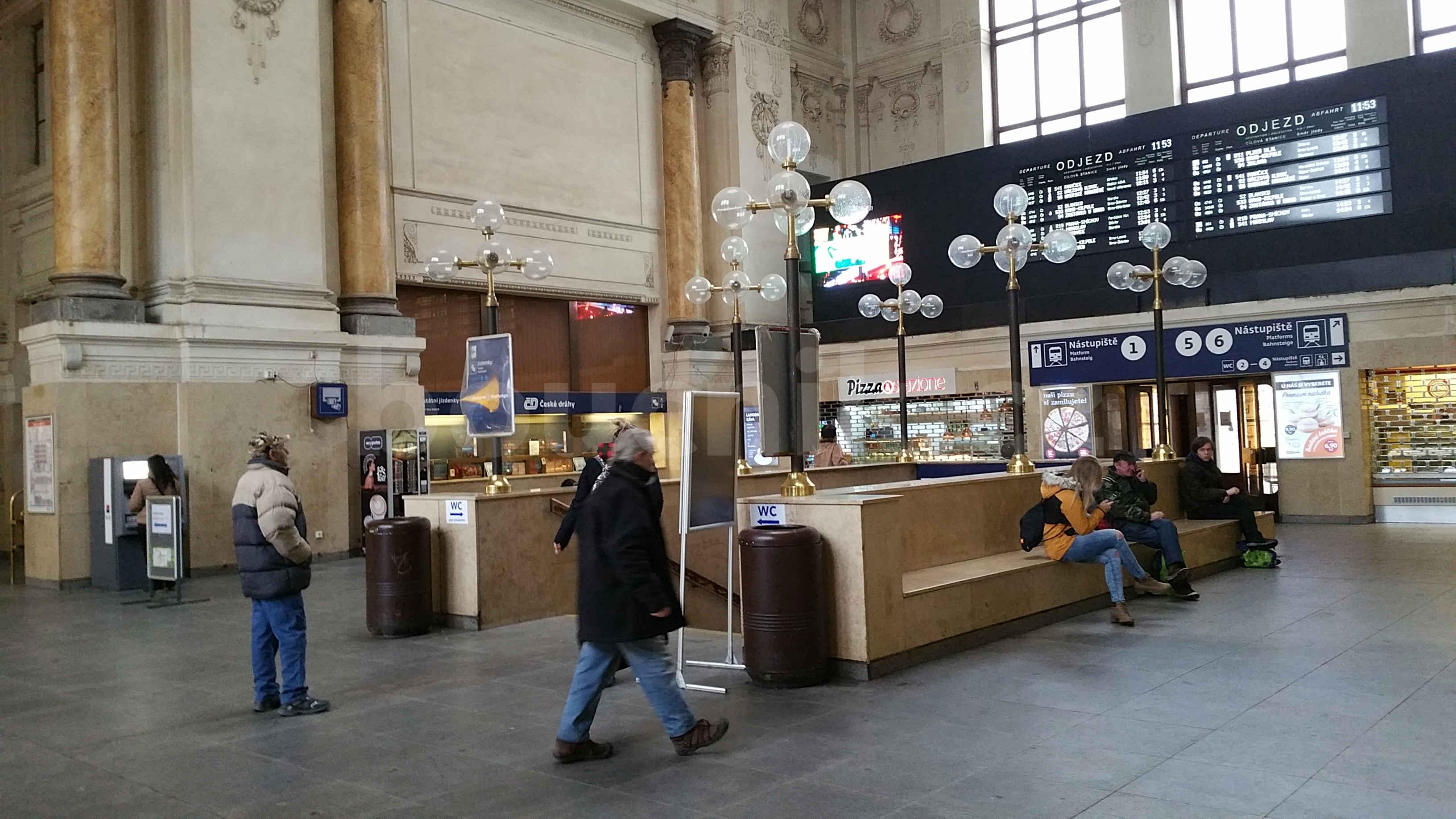 Vestibul brněnského horního nádraží
