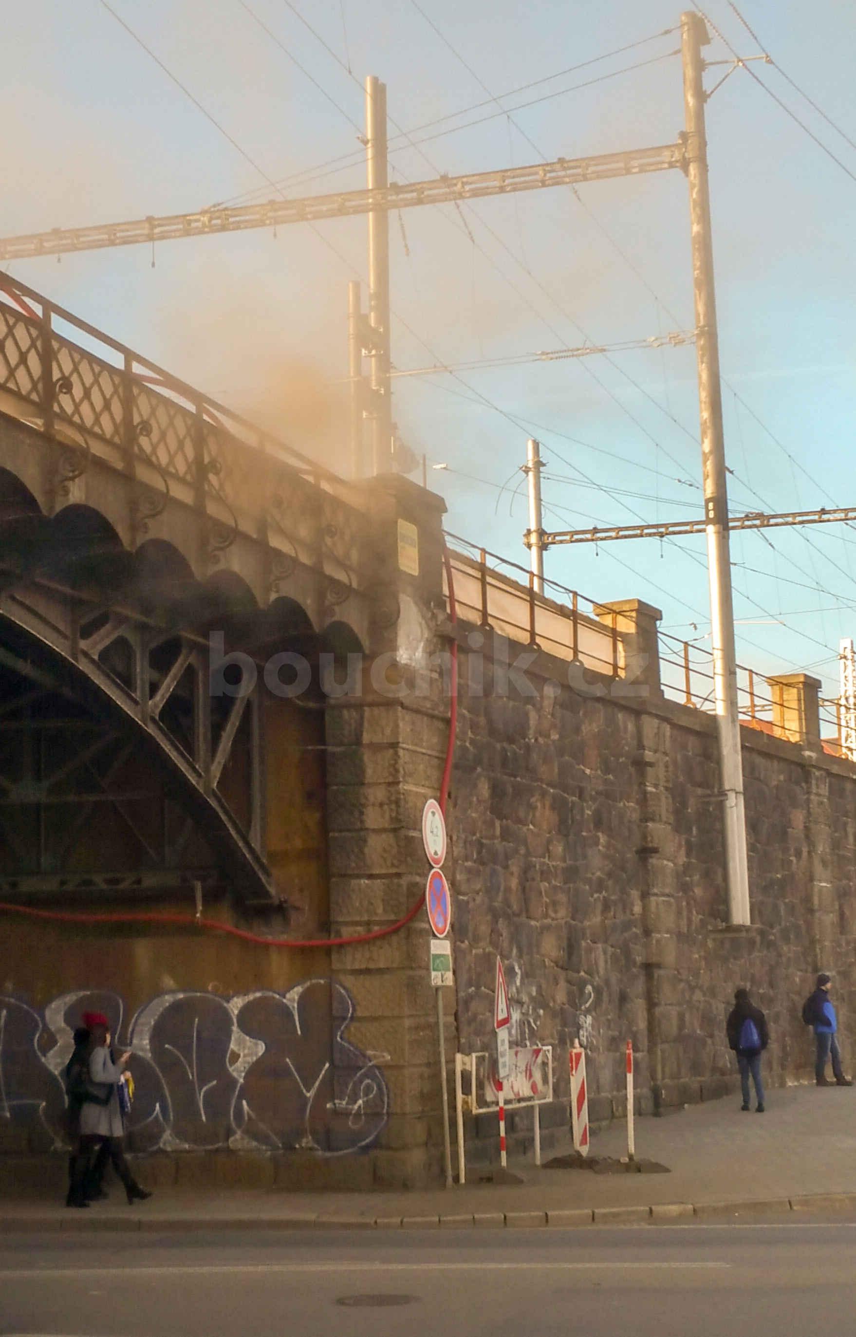 Viadukt Hybešova v rekonstrukci, únor 2019