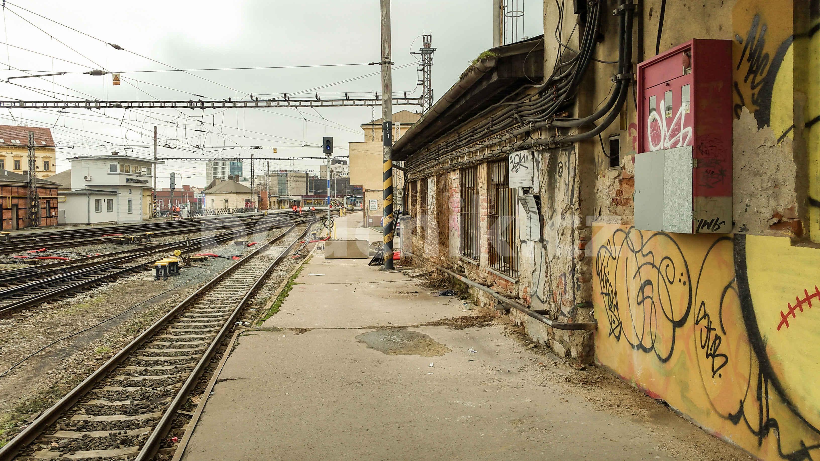 Severní část brněnského hlavního nádraží