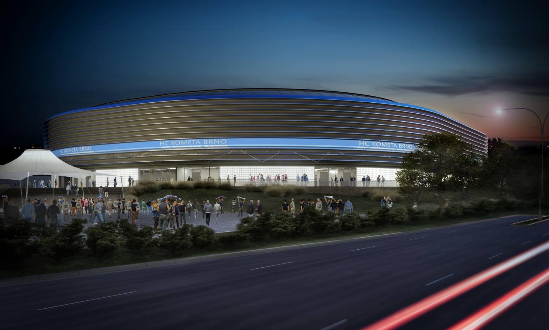 Vizualizace nové hokejové haly na brněnském výstavišti