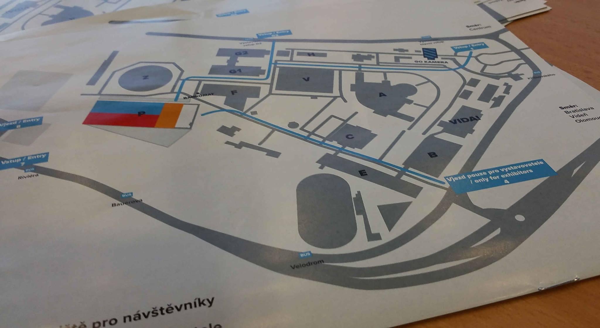 Plánek brněnského výstaviště