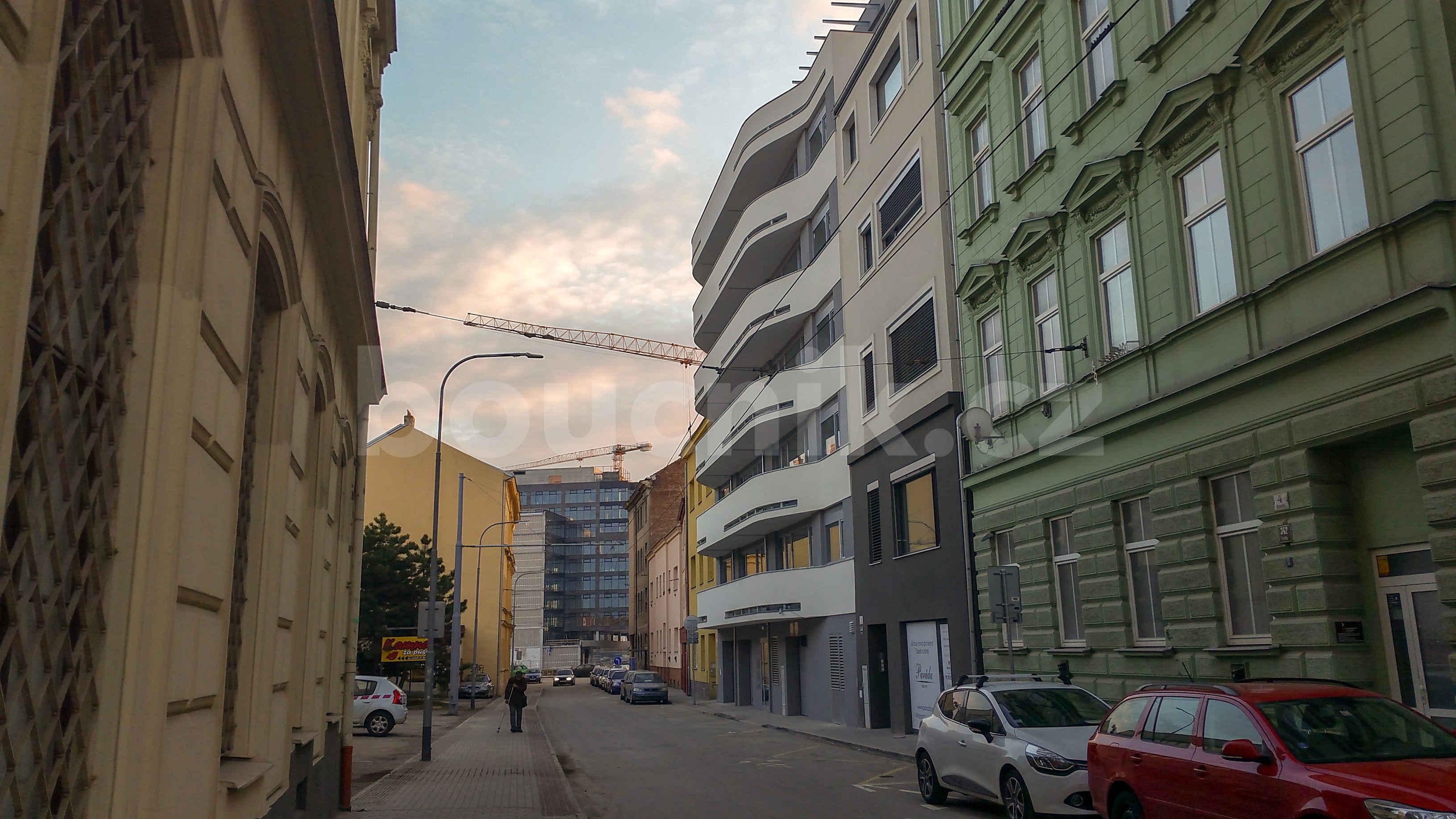 Uice Rumiště v Brně v únoru 2019