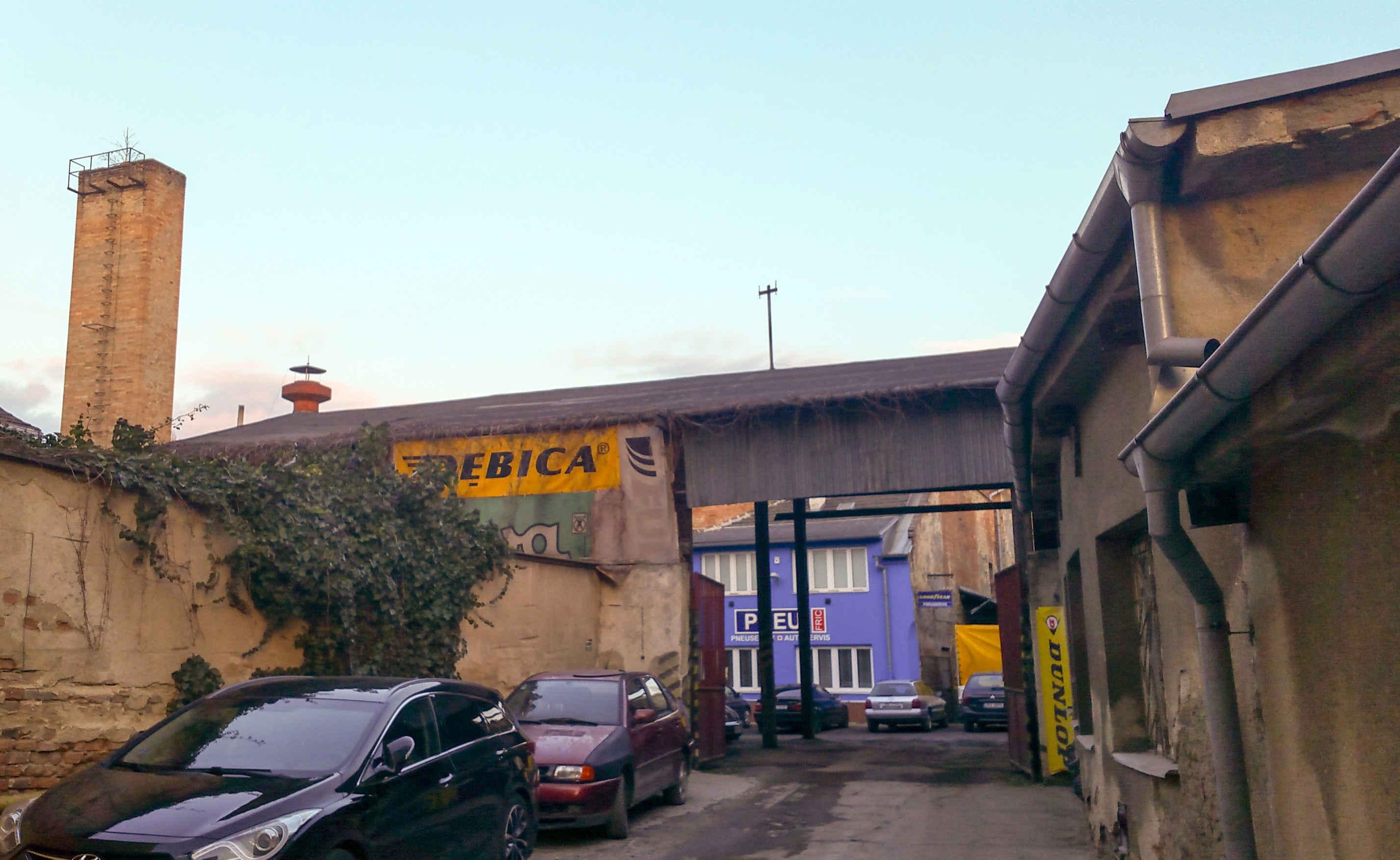 Mizející Brno, pohled do vnitrobloku z ulice Rumiště