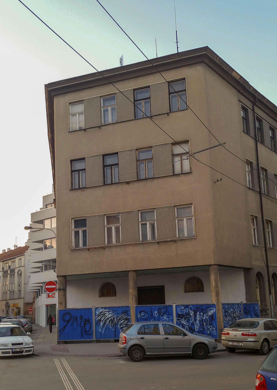 Rohový dům ulice Rumiště - Mlýnská