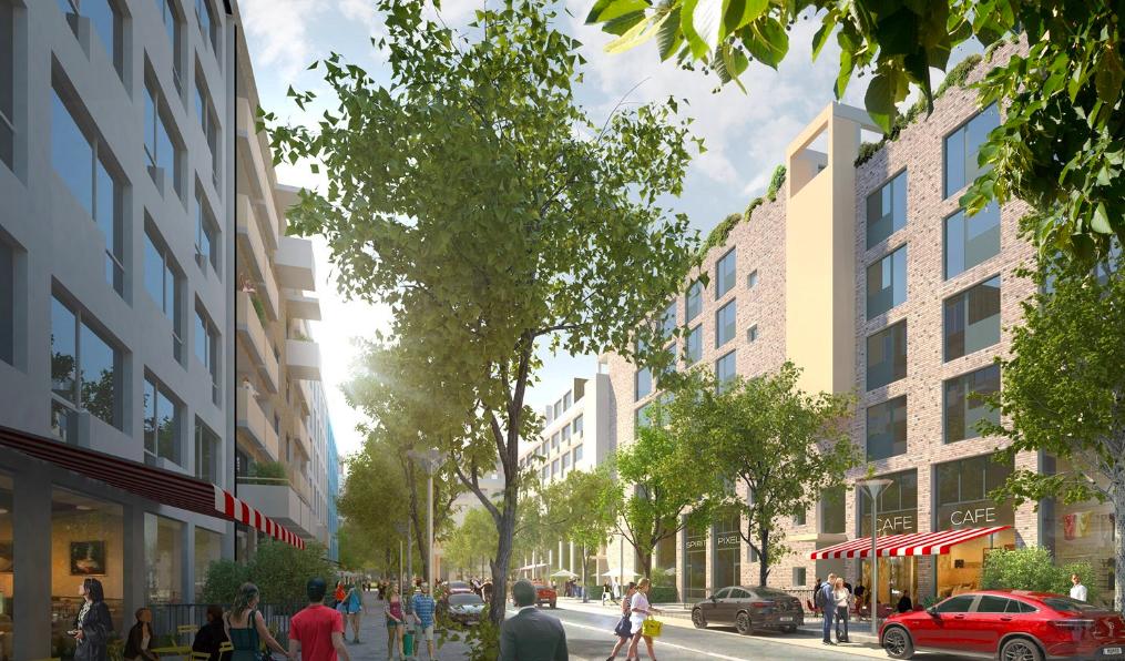 Vizualizace nové Jižní části našeho města Brna