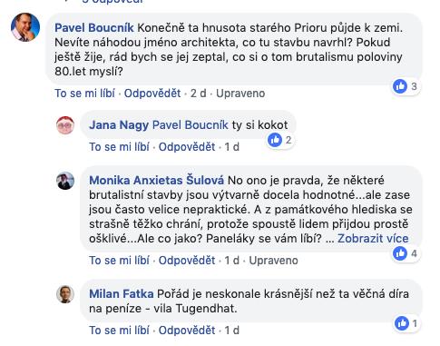 Debata nad zbouráním OD PRIOR v Brně