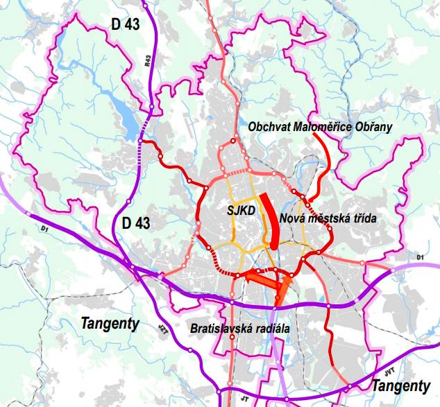 Situační nákres nového územního plánu, 2019