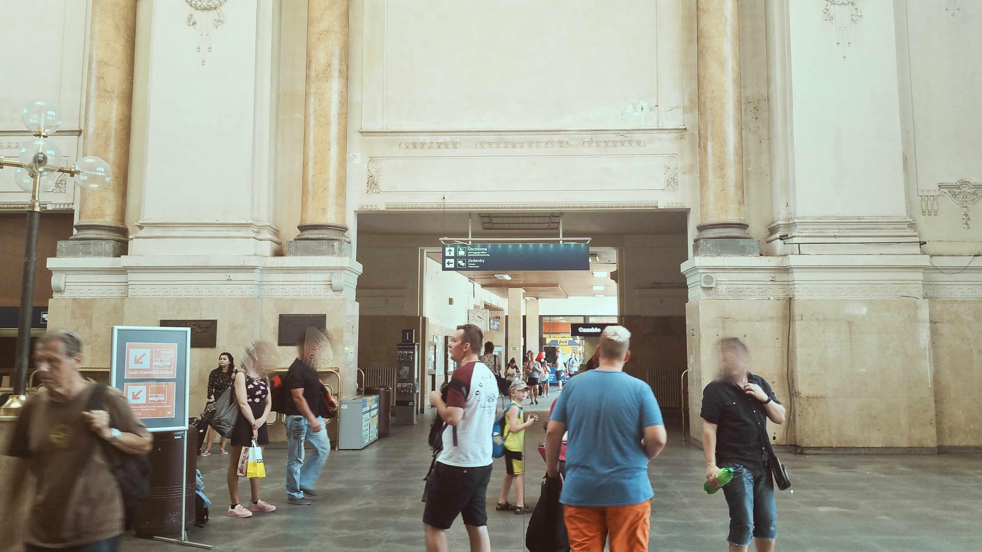 Opuštěné hlavní nádraží v Brně