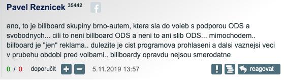 Pavel Řezníček a komentář na iDnes