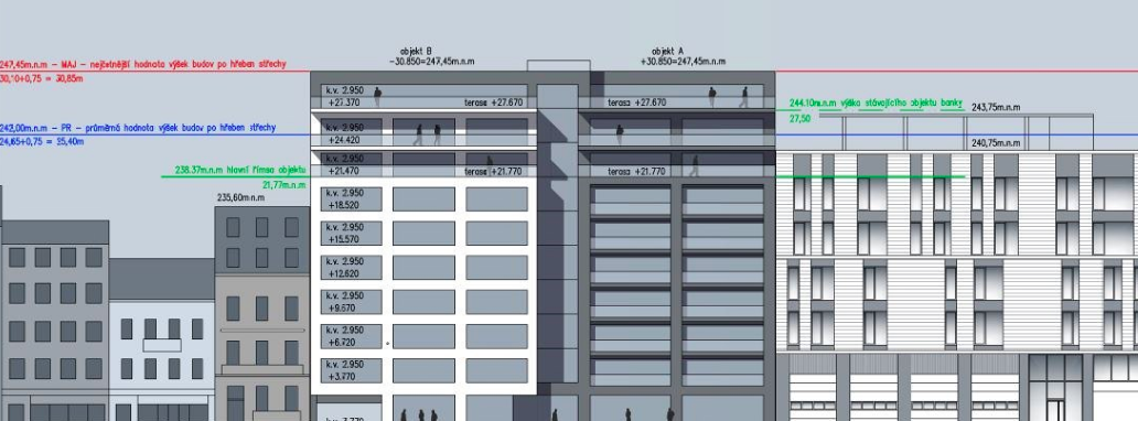 Vizualizace nového domu na Lidické ulici v Brně