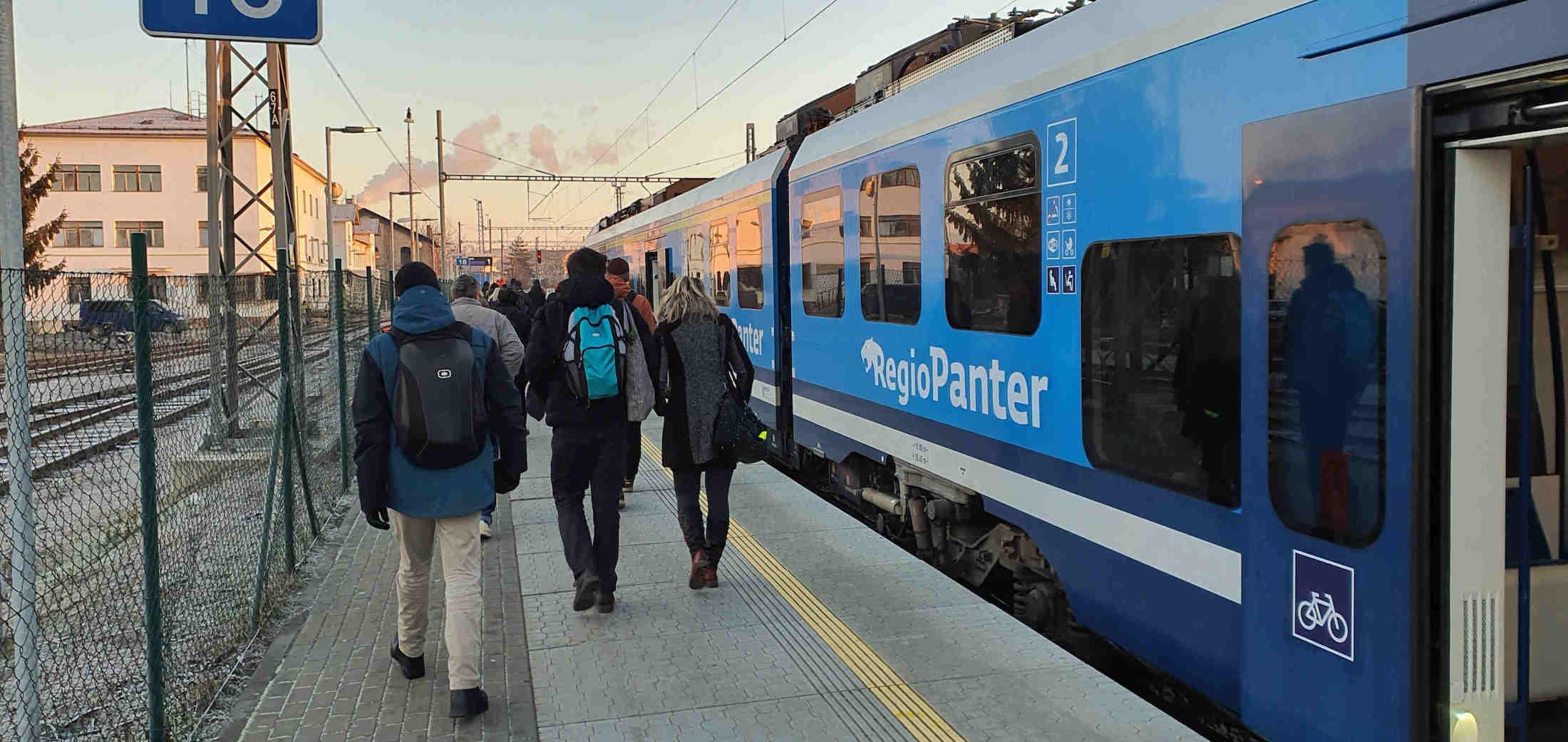 Provoz na Dolním nádraží v Brně v lednu 2020