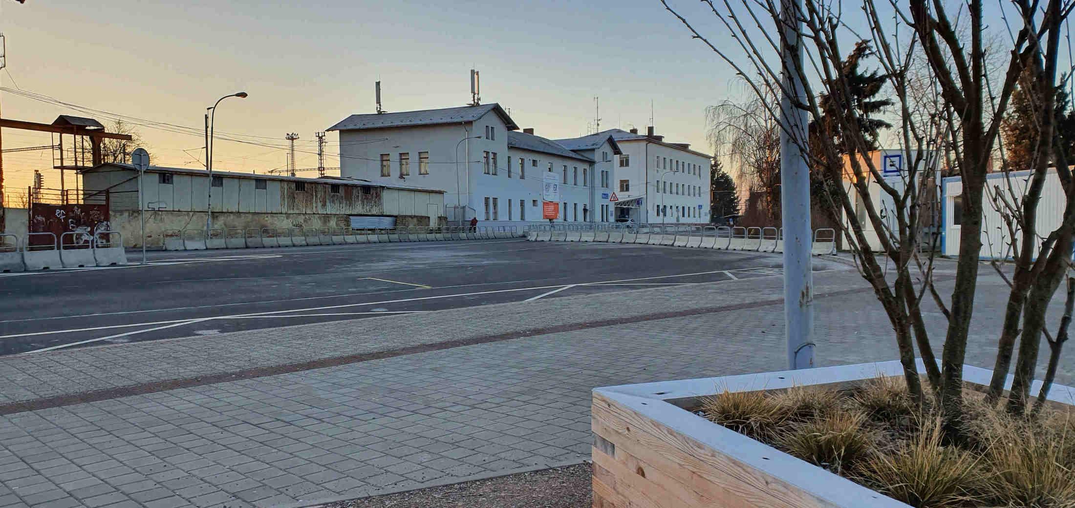 Dolní nádraží v Brně v lednu 2020