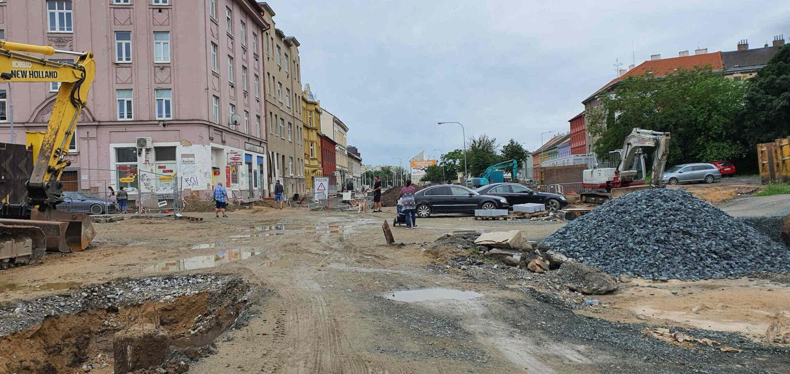 Křižovatka ulic Kovářská - Plotní