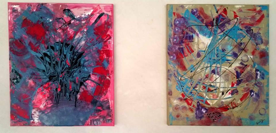 Výstava obrazů Odpojené světy v Malé Americe v Brně