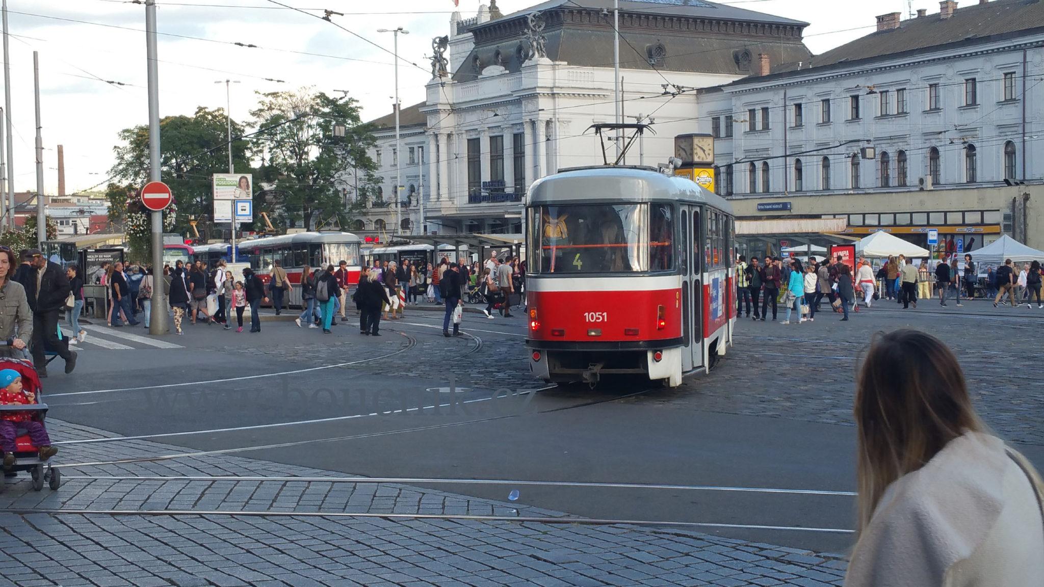 Přestupní uzel u současného hlavního nádraží v Brně