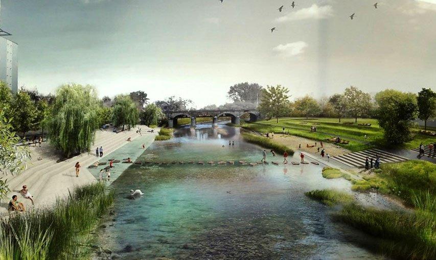 Návrh břehu řeky Svratky: Pelčáa a partner architekti