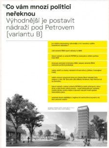 Nádraží v centru Brna