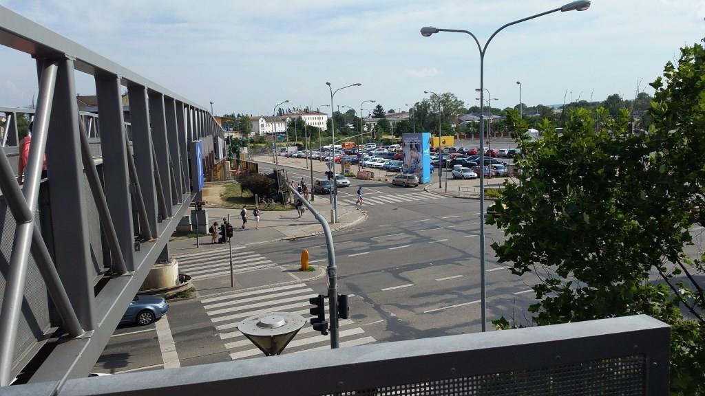 Pohled od Vaňkovky na plac, kde vzniká nové brněnské nádraží